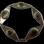 Unique Victorian Revival Operculum Bracelet