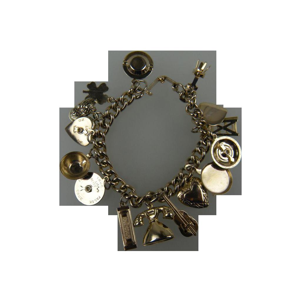 Fun 1950's Charm Bracelet