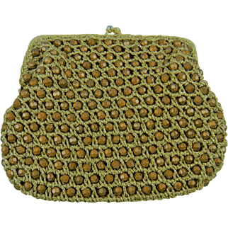 "Marked ""Delill Hand Made in Italy"" Beaded Purse"