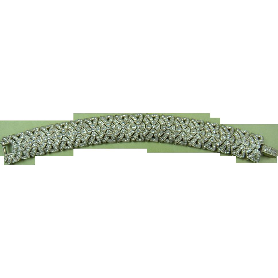 ART DECO Style Rhinestone Bracelet