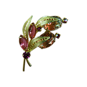 "DeLizza & Elster ""Pretty in Pink"" Brooch"