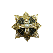 MONET Modified Maltese Cross Brooch