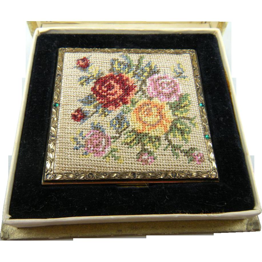 Mary Scott Rowland Needlepoint Compact