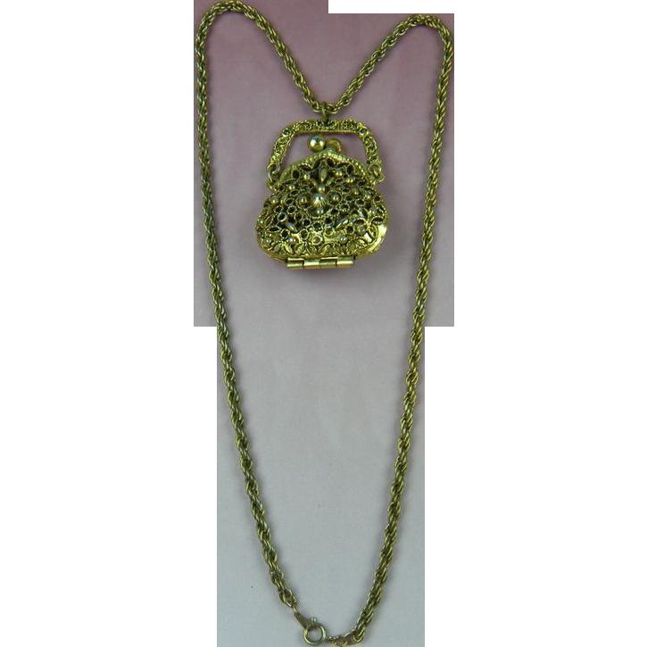 ART Purse Necklace Book Piece
