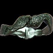 Signed Egyptian Revival Snake Clamper Style Bracelet