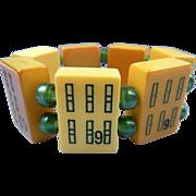 Mah Jong Bakelite Tile Bracelet Book Piece