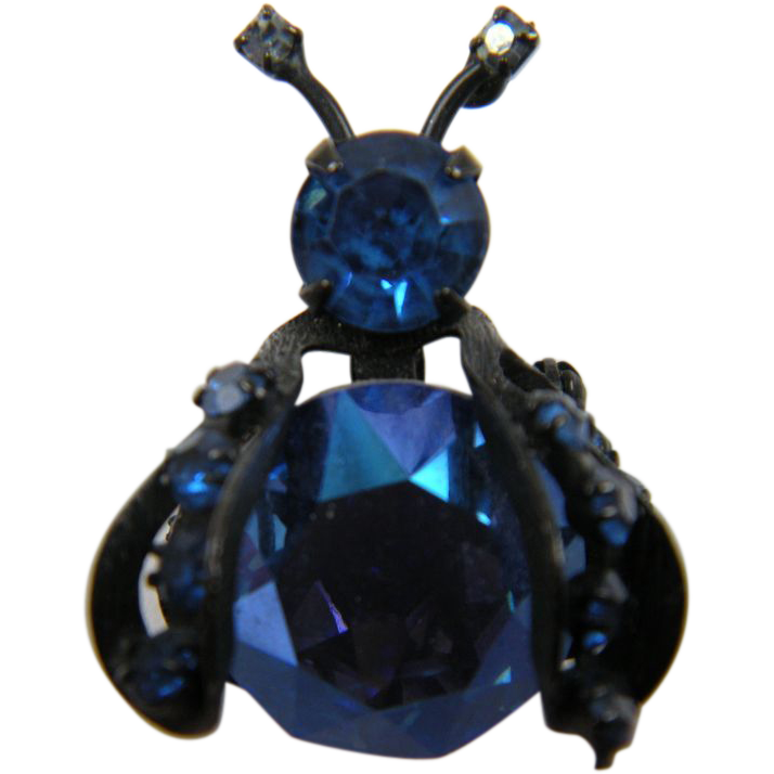 Signed WEISS Bug Brooch