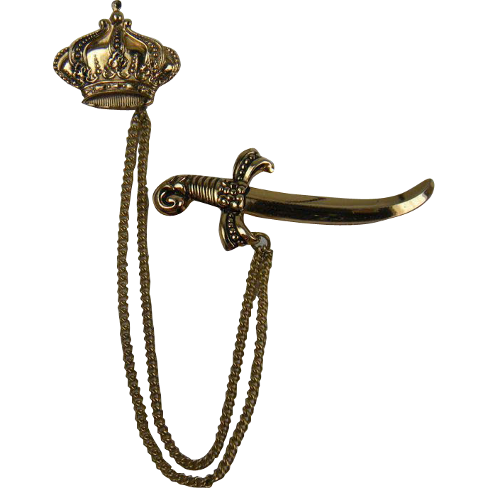 1940's Royal Themed Chatelaine Sword and Crown
