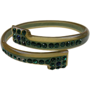 Very Early Celluloid Bangle with Rhinestones