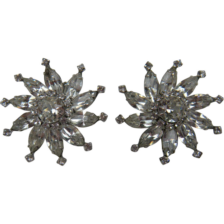 Festive Rhinestone Earrings
