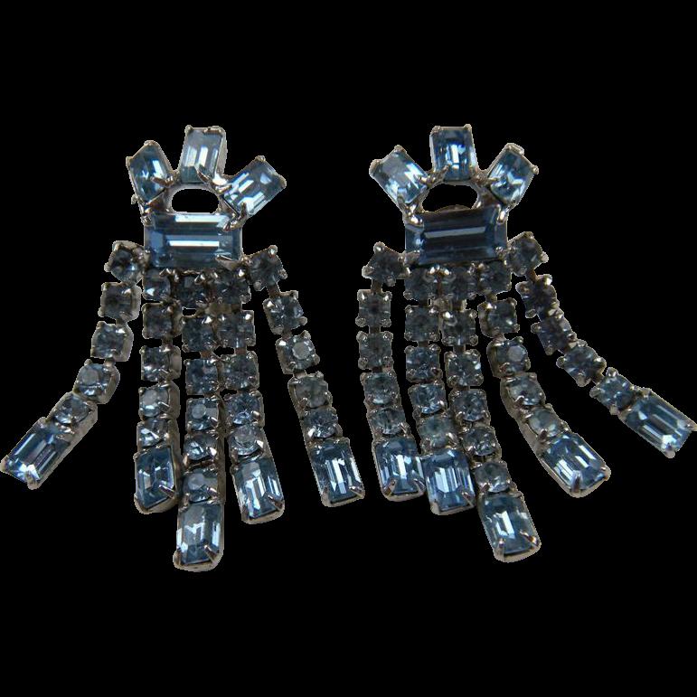 Festive Dangling Rhinestone Earrings