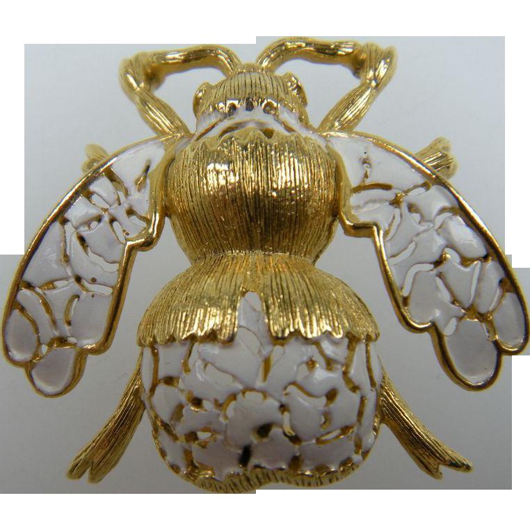 Fantastic Bug Brooch with Enameled Finish