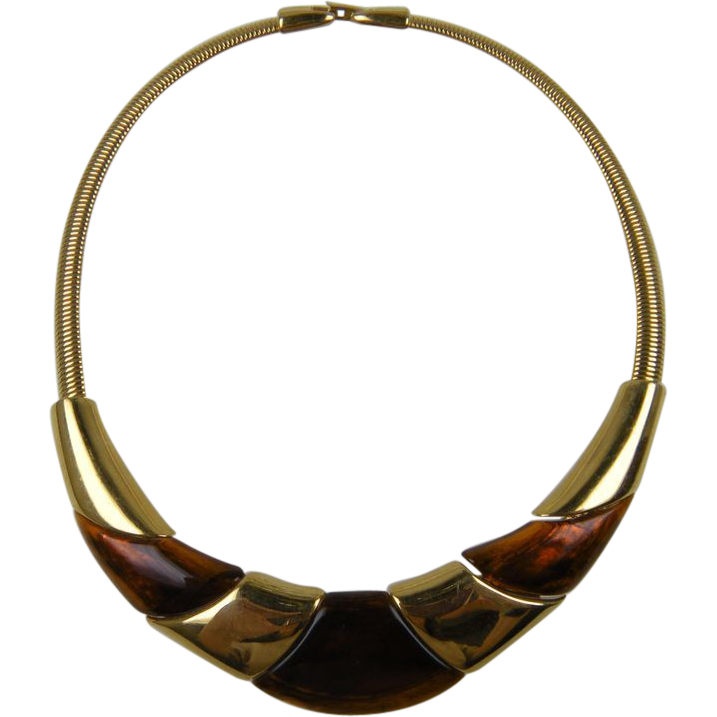 Signed NAPIER Modernist Collar Necklace Book Reference