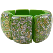 Fantastic Confetti Glitter Lucite Bracelet