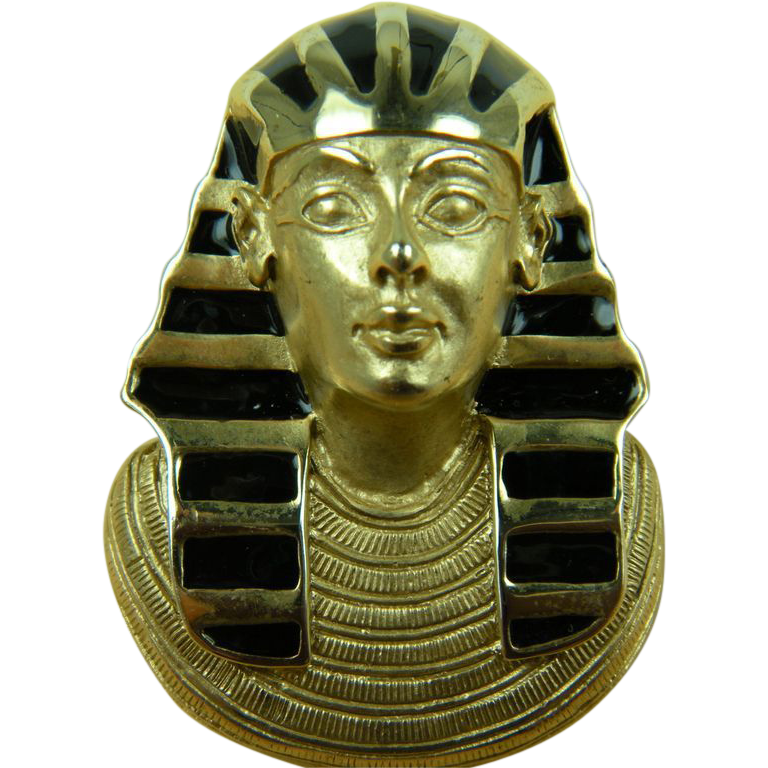 SALE Signed ERWIN PEARL King Tut Brooch