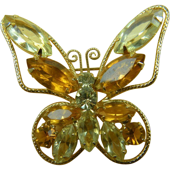 Petite Juliana (D&E) Butterfly Brooch
