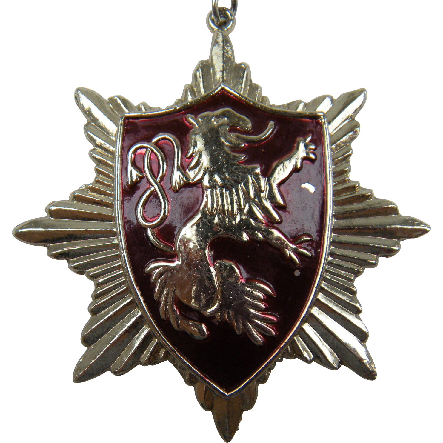 Lion Rampant Pendant Necklace