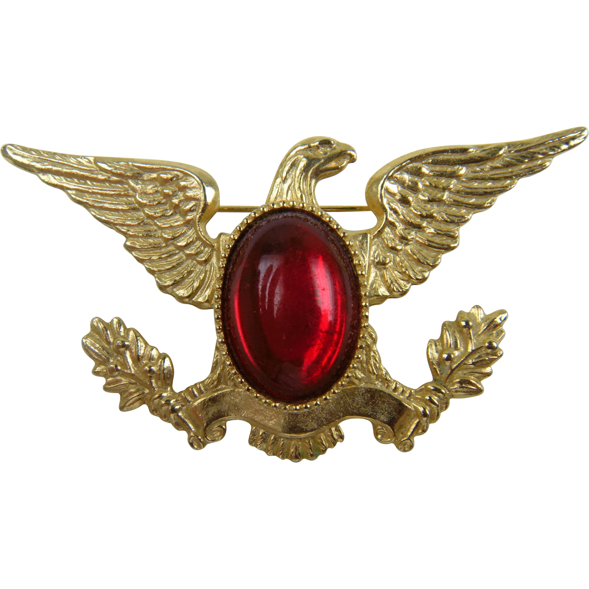 Patriotic Jelly Belly Eagle Brooch