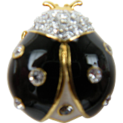 Signed JOAN RIVERS Lady Bug Brooch Book Piece