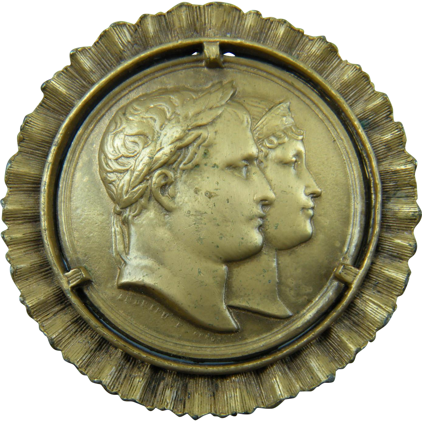 Coin Brooch/Pendant Commemorating the Marriage of Napoleon to Marie Louise of Austria