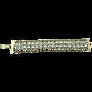 Signed SARAH COVENTRY Imitation Pearl Link Bracelet