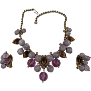 Reserved for D DeLizza and Elster Juliana Dangling Beads & Rhinestones Necklace and Matching Earrings