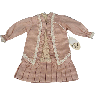 """Lovely French Style Dress for 14"""" Bisque Doll by Gabriella 9"""" long"""