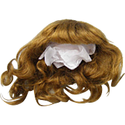 Authentic Antique Jumeau Mohair Wig for a Small Bebe