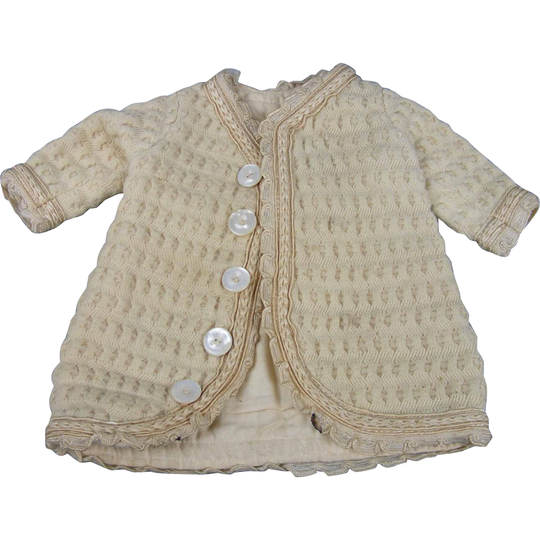 Old Doll Sweater or Coat for Antique Bisque or Composition Dolls