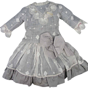 "Beautiful Dress for 22""-24"" dolls Made From Antique Fabrics"