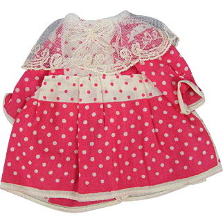 Adorable Tiny Dress for a Googly or Character Bisque Doll