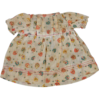 Small Vintage Dress For a Large Googly or Chubby Composition Doll