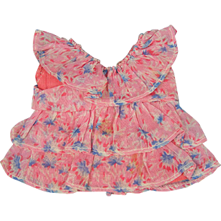 """Small Vintage Dress 5"""" long Cute for a Googly or Kewpie"""