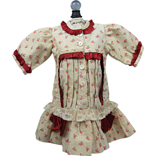 Dress for Antique Bisque Dolls Perfect Condition!