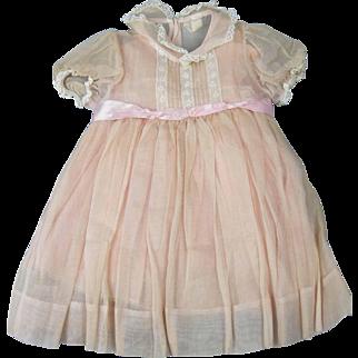 Lovely Vintage Madame Alexander Dress Larger Baby or Girl Doll