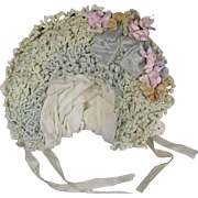 Lovely and Unusual Bonnet for an Antique Bisque Doll