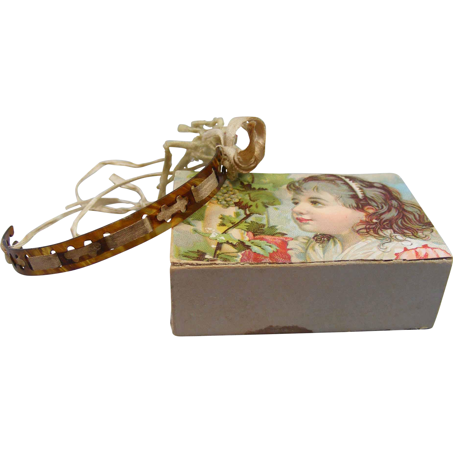 Old Celluloid Doll Headband Bisque or Composition Dolls