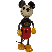 Mickey Mouse Vintage Wooden Figurine