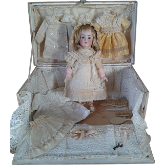 Original Presentation Trunk, Bebe, and Trousseau made for the French Market.