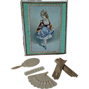 Antique French Fashion Accessories in Box
