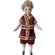 """Antique French Mignonette Doll 5.25"""" Tall and Perfect."""