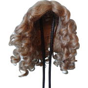 "Golden Blonde Mohair Wig for 8"" Circumference head"