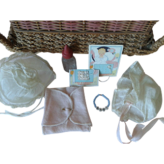 Presentation Basket, Dy-Dee Doll Bracelet, Gown & Accessories for Doll