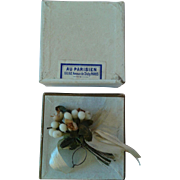 Miniature Antique French Wax Bridal Bouquet in Box