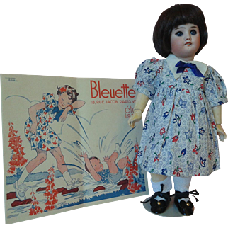 Authentic Bleuette with G.L. Dress & Catalog