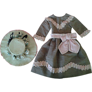 Antique French Dress and Hat