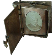 Miniature Antique French President Photo Album 1880 for Fashion Doll
