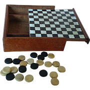 "Miniature French Antique 2"" Domino Box Set"