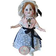 """7.5"""" Jumeau All Original With Label"""