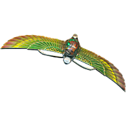 Brooch--4.5 Inch Jugendstil Levinger & Bliss Plique-a-jour Enamel Egyptian Revival Winged Scarab